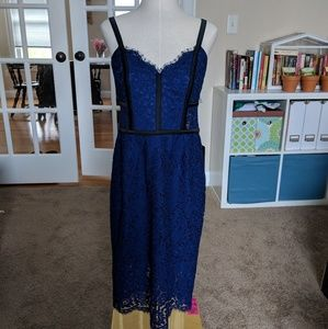Express Navy Lace Cocktail Dress